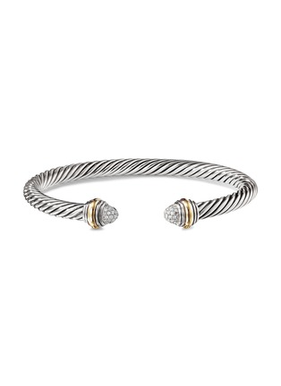 Main View - Click To Enlarge - DAVID YURMAN - 'Cable Classics' diamond 14k yellow gold silver cuff