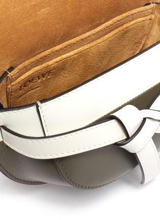 Detail View - Click To Enlarge - LOEWE - 'Gate' mini colourblocked saddle bag