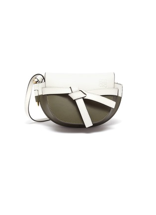 Main View - Click To Enlarge - LOEWE - 'Gate' mini colourblocked saddle bag