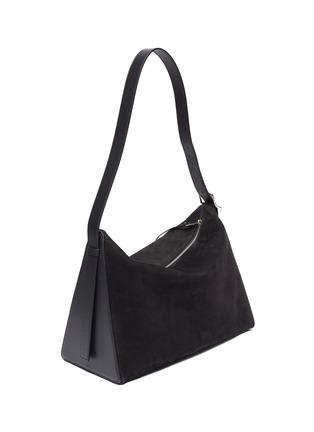 Detail View - Click To Enlarge - LOEWE - 'Berlingo' leather panel suede shoulder bag