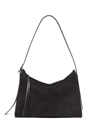 Main View - Click To Enlarge - LOEWE - 'Berlingo' leather panel suede shoulder bag