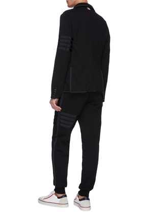 Back View - Click To Enlarge - THOM BROWNE - Grosgrain trim stripe jersey suit