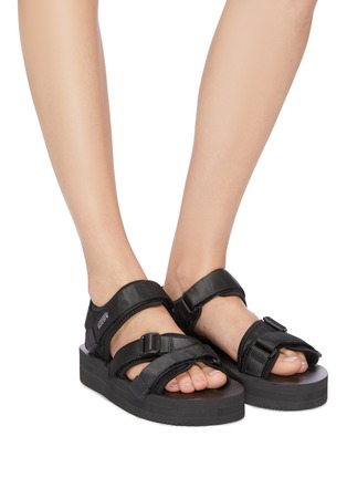 Figure View - Click To Enlarge - SUICOKE - 'KISEE-VPO' strappy platform sandals