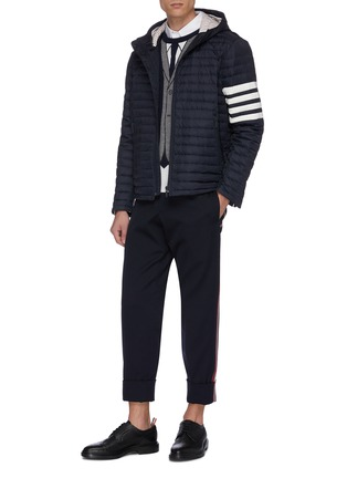 Figure View - Click To Enlarge - THOM BROWNE - Trompe l'oeil suit print stripe sleeve sweater