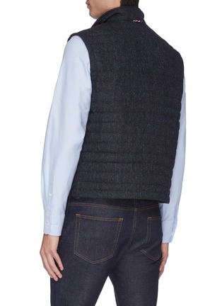 Back View - Click To Enlarge - THOM BROWNE - Stripe down quilted wool vest