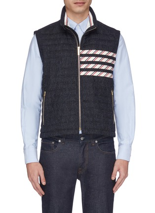 Main View - Click To Enlarge - THOM BROWNE - Stripe down quilted wool vest