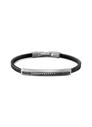 Main View - Click To Enlarge - DAVID YURMAN - Diamond pavé bar charm bracelet