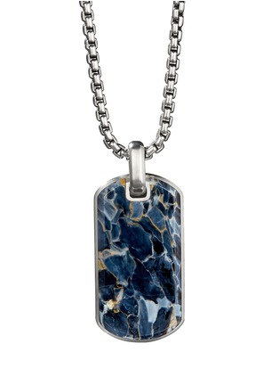 Main View - Click To Enlarge - DAVID YURMAN - 'Streamline' pietersite silver dog tag pendant