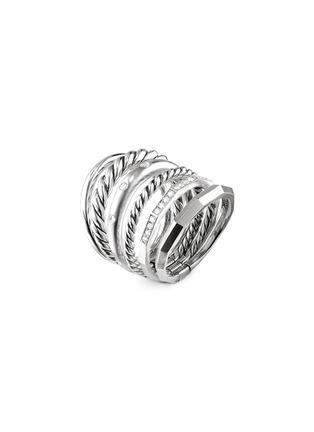 Main View - Click To Enlarge - DAVID YURMAN - 'Stax' diamond silver multi band ring
