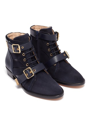 Figure View - Click To Enlarge - CHLOÉ - Double buckle kids boots
