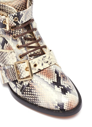 Detail View - Click To Enlarge - CHLOÉ - Snake embossed kids boots