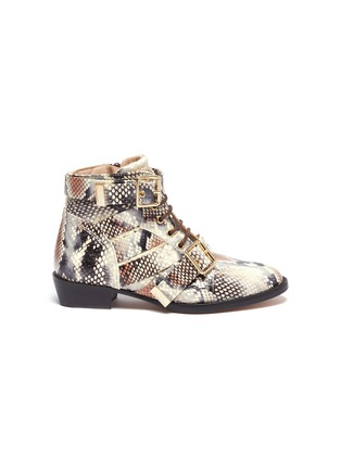 Main View - Click To Enlarge - CHLOÉ - Snake embossed kids boots