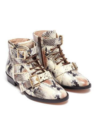 Figure View - Click To Enlarge - CHLOÉ - Snake embossed kids boots