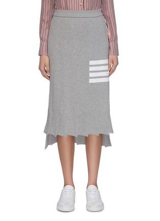 Main View - Click To Enlarge - THOM BROWNE - 'Tromp L'oeil' stripe drop back pleated skirt