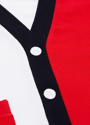 - THOM BROWNE - Colourblock button T-shirt