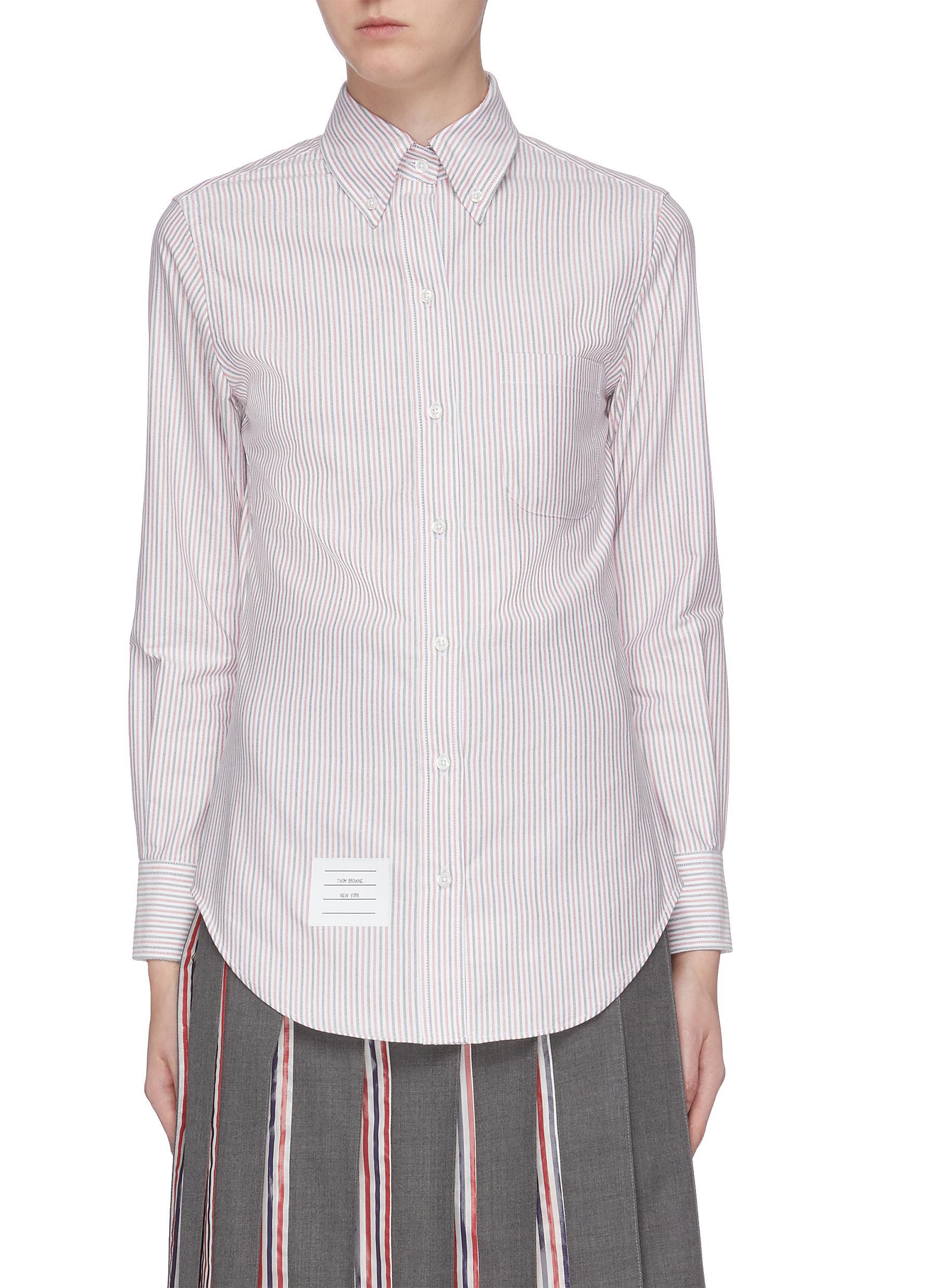 Pinstripe Oxford shirt by Thom Browne