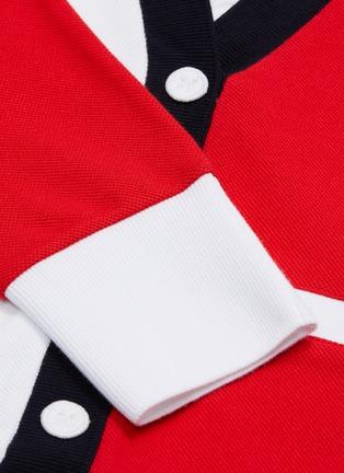 - THOM BROWNE - Trompe d'œil colourblock button polo dress