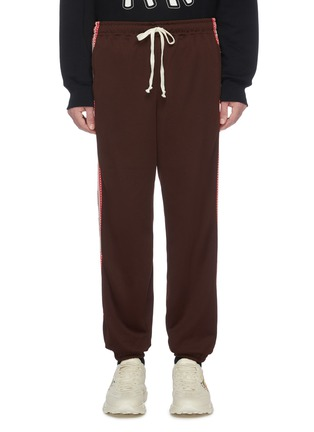 Main View - Click To Enlarge - GUCCI - Mesh stripe outseam jogging pants