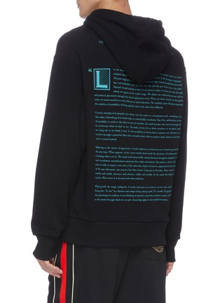 Back View - Click To Enlarge - GUCCI - Face mask print hoodie