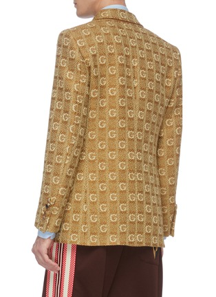Back View - Click To Enlarge - GUCCI - 'GG' logo embroidered knit blazer