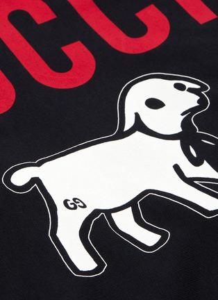 - GUCCI - Logo lamb print hoodie