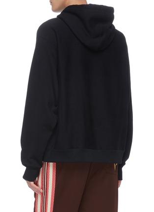 Back View - Click To Enlarge - GUCCI - Logo lamb print hoodie