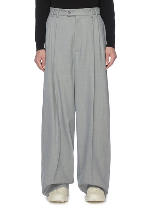 Main View - Click To Enlarge - GUCCI - Pleated wide leg pants