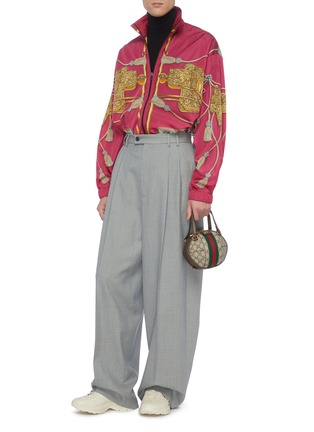 Figure View - Click To Enlarge - GUCCI - Pleated wide leg pants