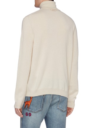 Back View - Click To Enlarge - GUCCI - Logo tag turtleneck sweater