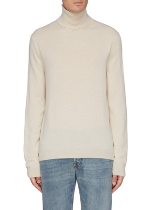 Main View - Click To Enlarge - GUCCI - Logo tag turtleneck sweater