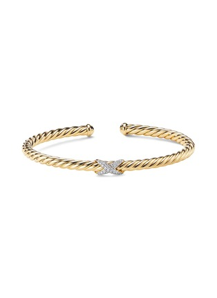 Main View - Click To Enlarge - DAVID YURMAN - X Cablespira' diamond 18k yellow gold cuff
