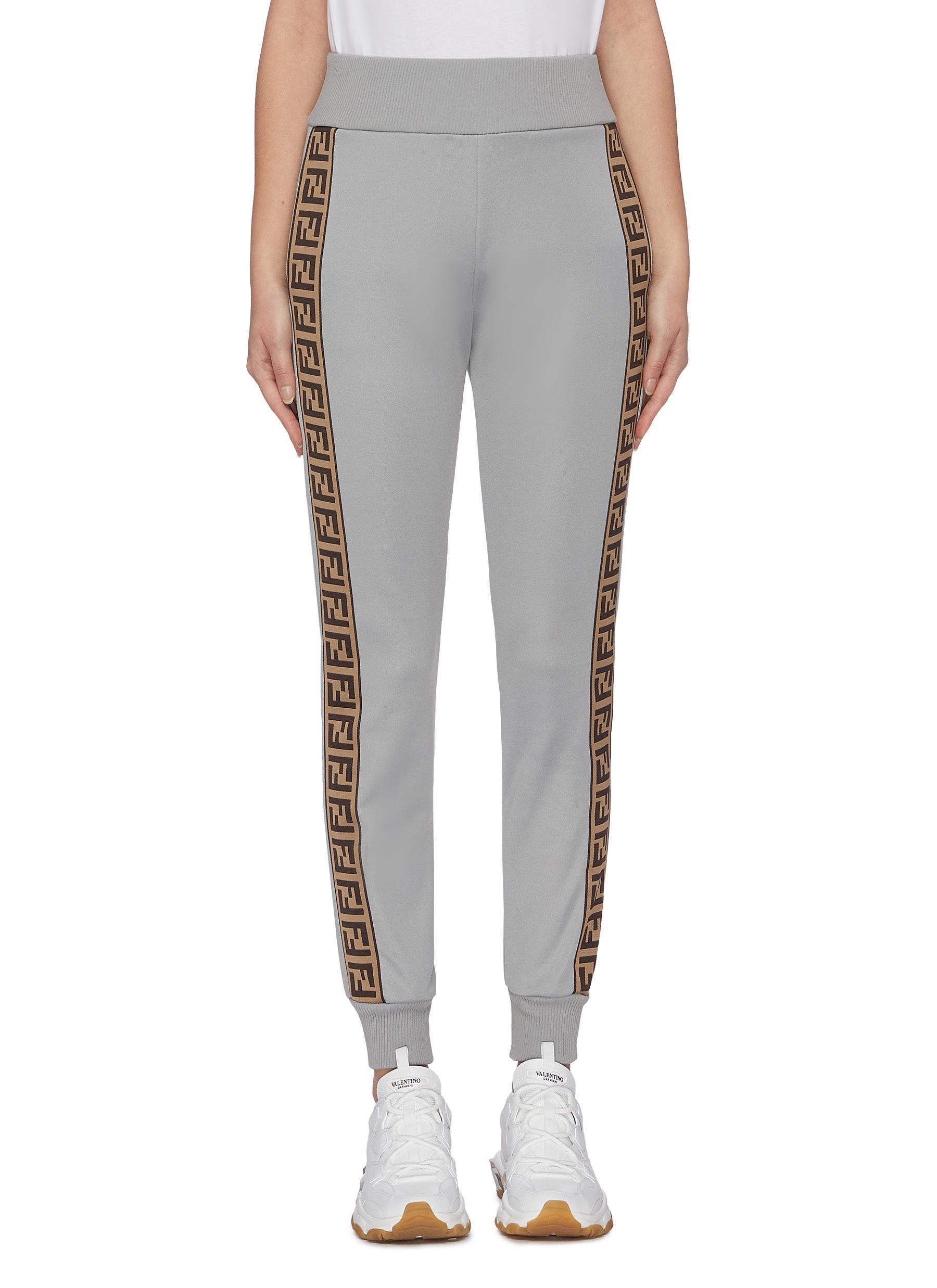 Fendirama logo stripe outseam sweat pants by Fendi Sport