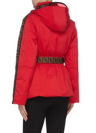 Back View - Click To Enlarge - FENDI SPORT - 'Fendirama' belted logo stripe sleeve reversible ski jacket