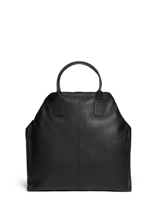 Back View - Click To Enlarge - Alexander McQueen - Leather manta bag