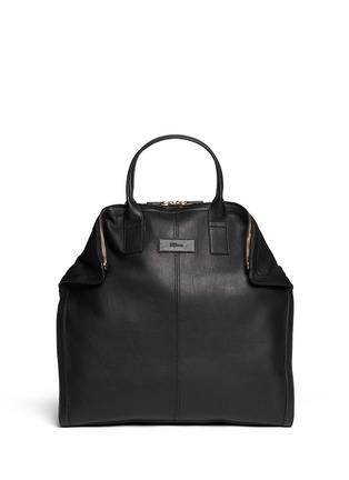 Main View - Click To Enlarge - Alexander McQueen - Leather manta bag