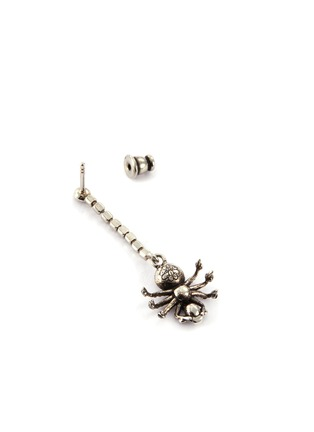 Detail View - Click To Enlarge - ALEXANDER MCQUEEN - Swarovski crystal pavé spider single drop earring