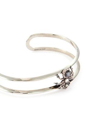 Detail View - Click To Enlarge - ALEXANDER MCQUEEN - Swarovski crystal pavé spider cuff bracelet
