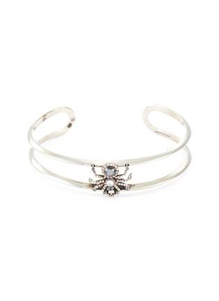 Main View - Click To Enlarge - ALEXANDER MCQUEEN - Swarovski crystal pavé spider cuff bracelet