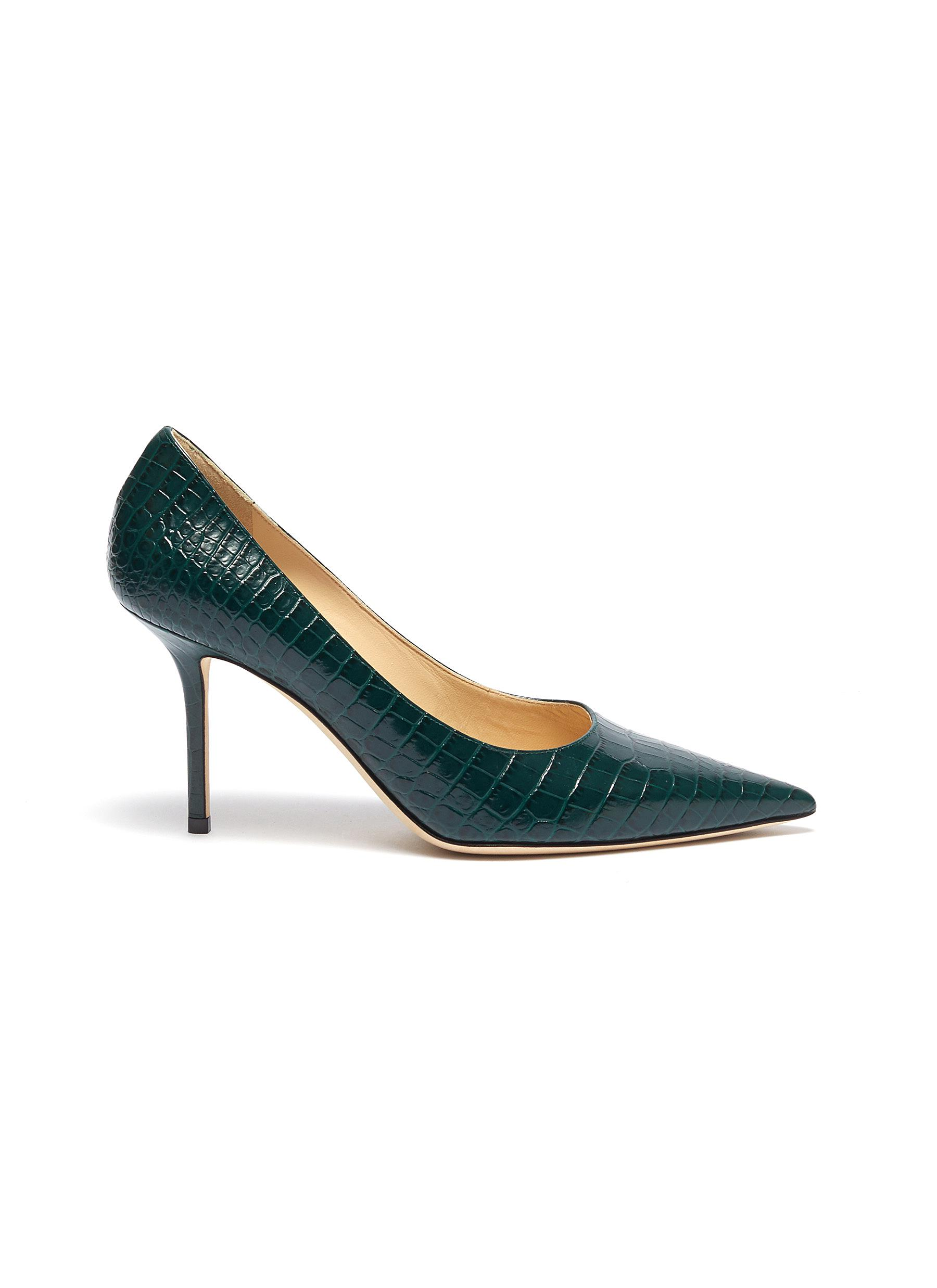 Love 85 croc embossed leather pumps by Jimmy Choo