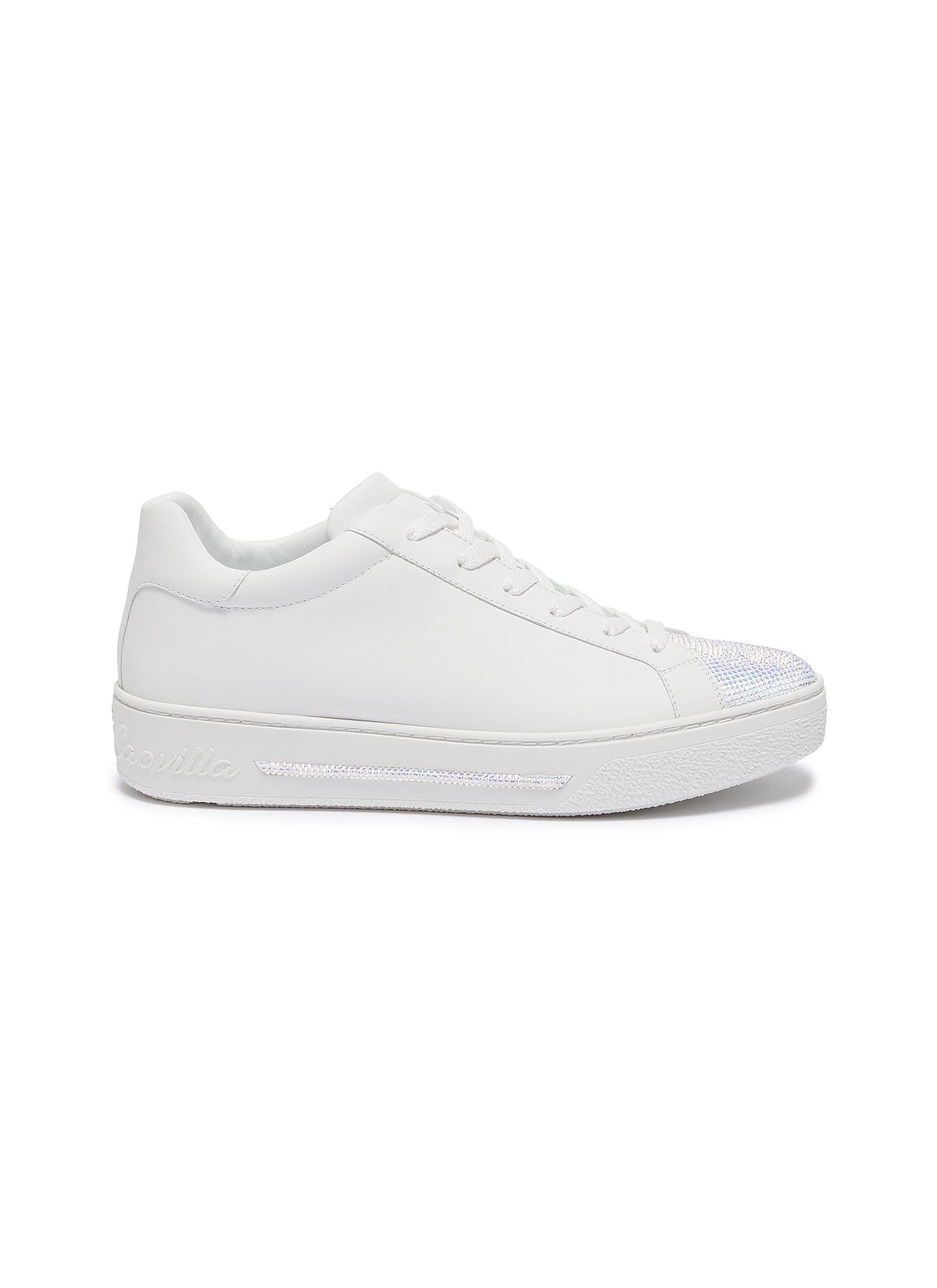 René Caovilla Sneakers Strass embellished lambskin leather sneakers