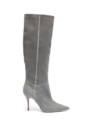 Main View - Click To Enlarge - RENÉ CAOVILLA - 'Yulieta' labrador strass embellished tall boot