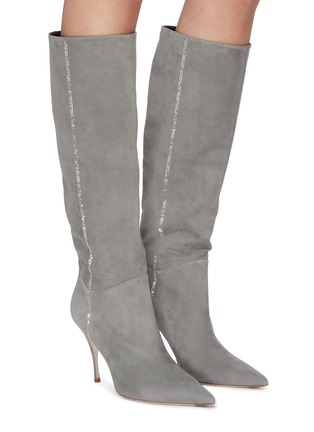Figure View - Click To Enlarge - RENÉ CAOVILLA - 'Yulieta' labrador strass embellished tall boot