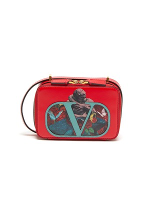 Main View - Click To Enlarge - VALENTINO - Valentino Garavani x UNDERCOVER VLOGO graphic print small leather crossbody bag