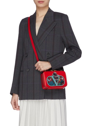 Figure View - Click To Enlarge - VALENTINO - x UNDERCOVER VLOGO graphic print small leather crossbody bag