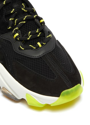 Detail View - Click To Enlarge - ASH - 'Eclipse Bis' chunky outsole suede panel ripstop sneakers