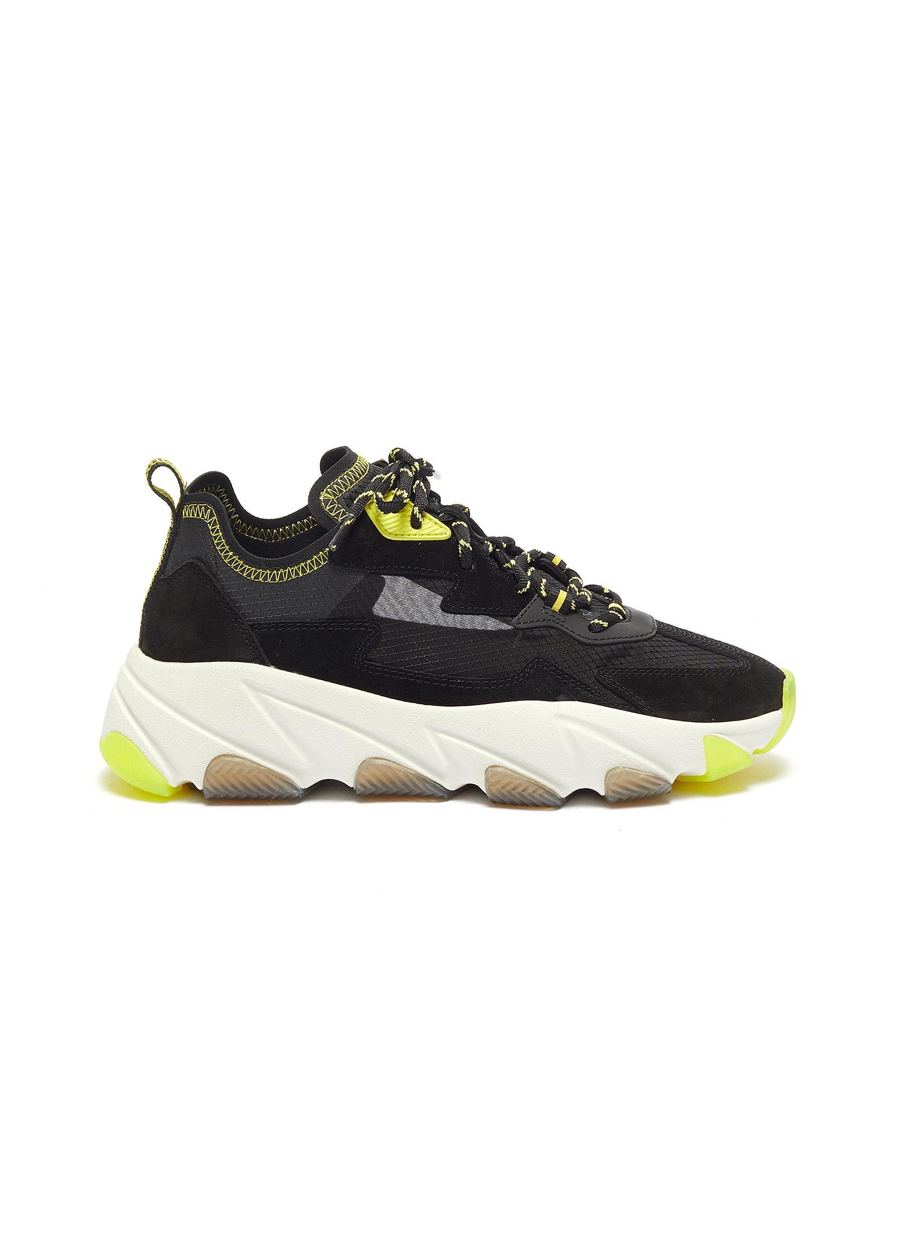 shop Ash 'Eclipse Bis' chunky outsole suede panel ripstop sneakers online