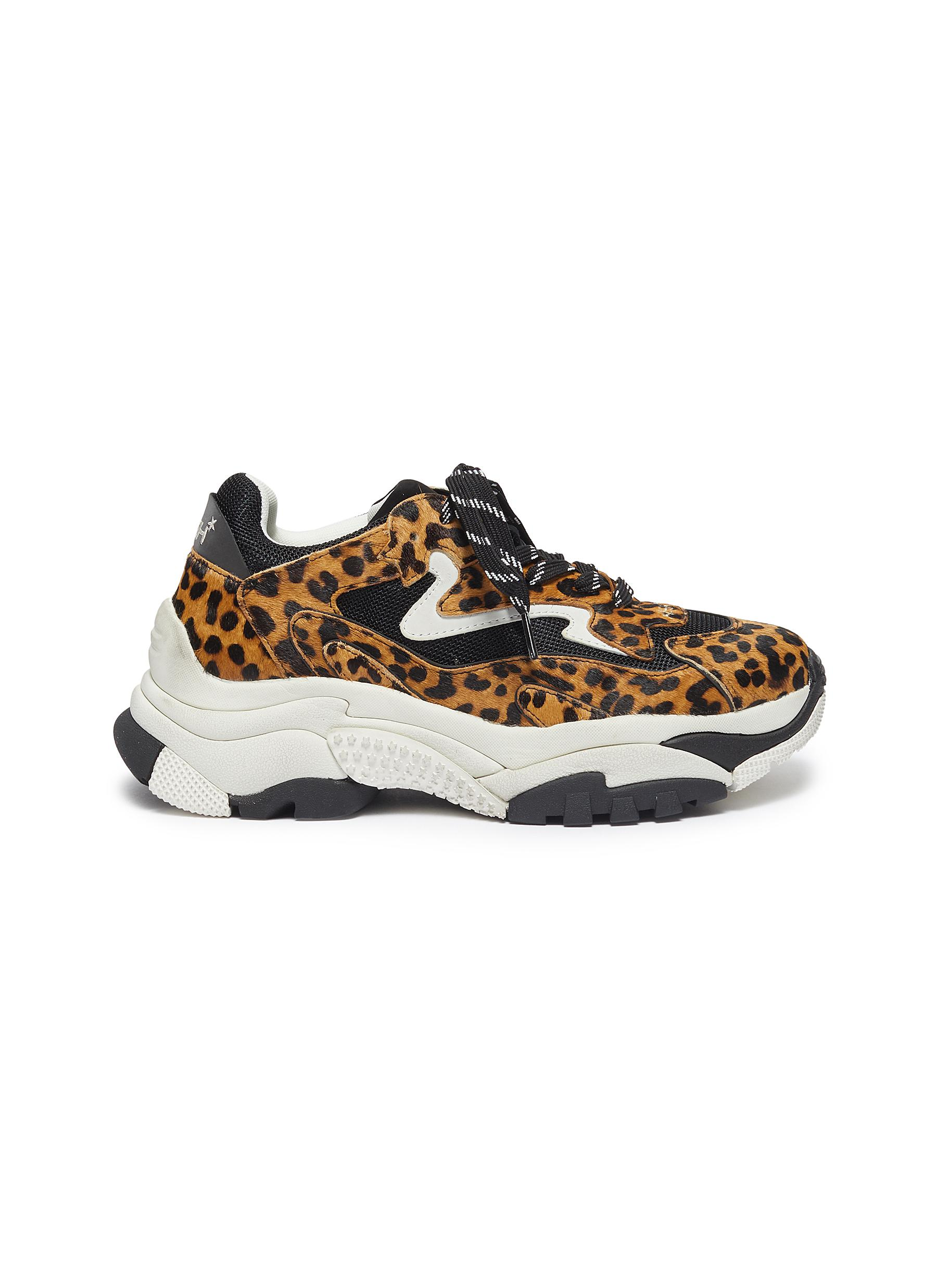 shop Ash 'Addict Ter' chunky outsole cheetah print sneakers online