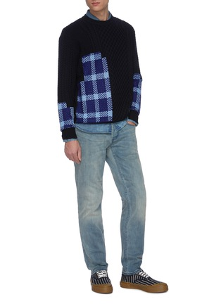 Figure View - Click To Enlarge - DENHAM - 'Razor ZB' washed slim jeans