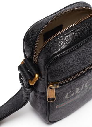 Detail View - Click To Enlarge - GUCCI - Logo print leather shoulder bag