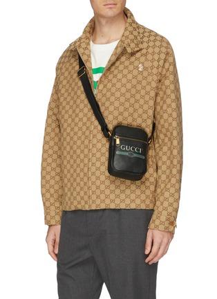 Figure View - Click To Enlarge - GUCCI - Logo print leather shoulder bag